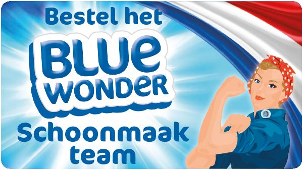 Bestel het Blue Wonder Schoonmaakteam